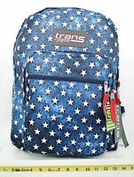 Jansport Trans School Student Backpack Patriotic Blue Multi Star With Tags