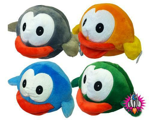 FLAPPY BIRDS LARGE 9  PLUSH SOFT TOY orange GREY blueE GREEN NEW WITH TAGS