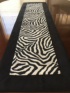 Image Is Loading Waverly Wildlife Black Amp White Zebra Animal Print