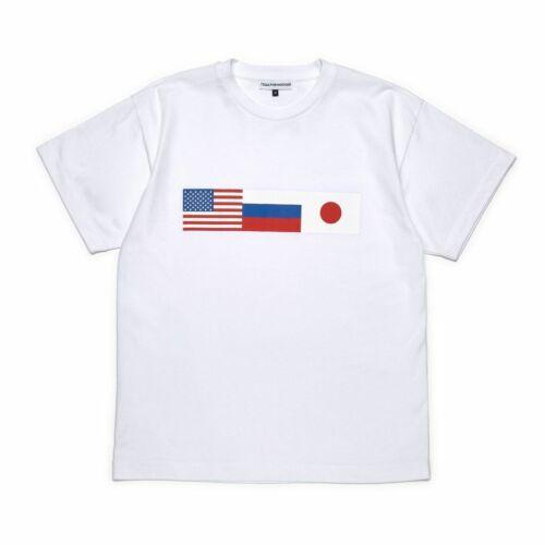 GOSHA RUBCHINSKIY 18 AW FLAG T-SHIRT WHITE SIZE LARGE PRINT TEE
