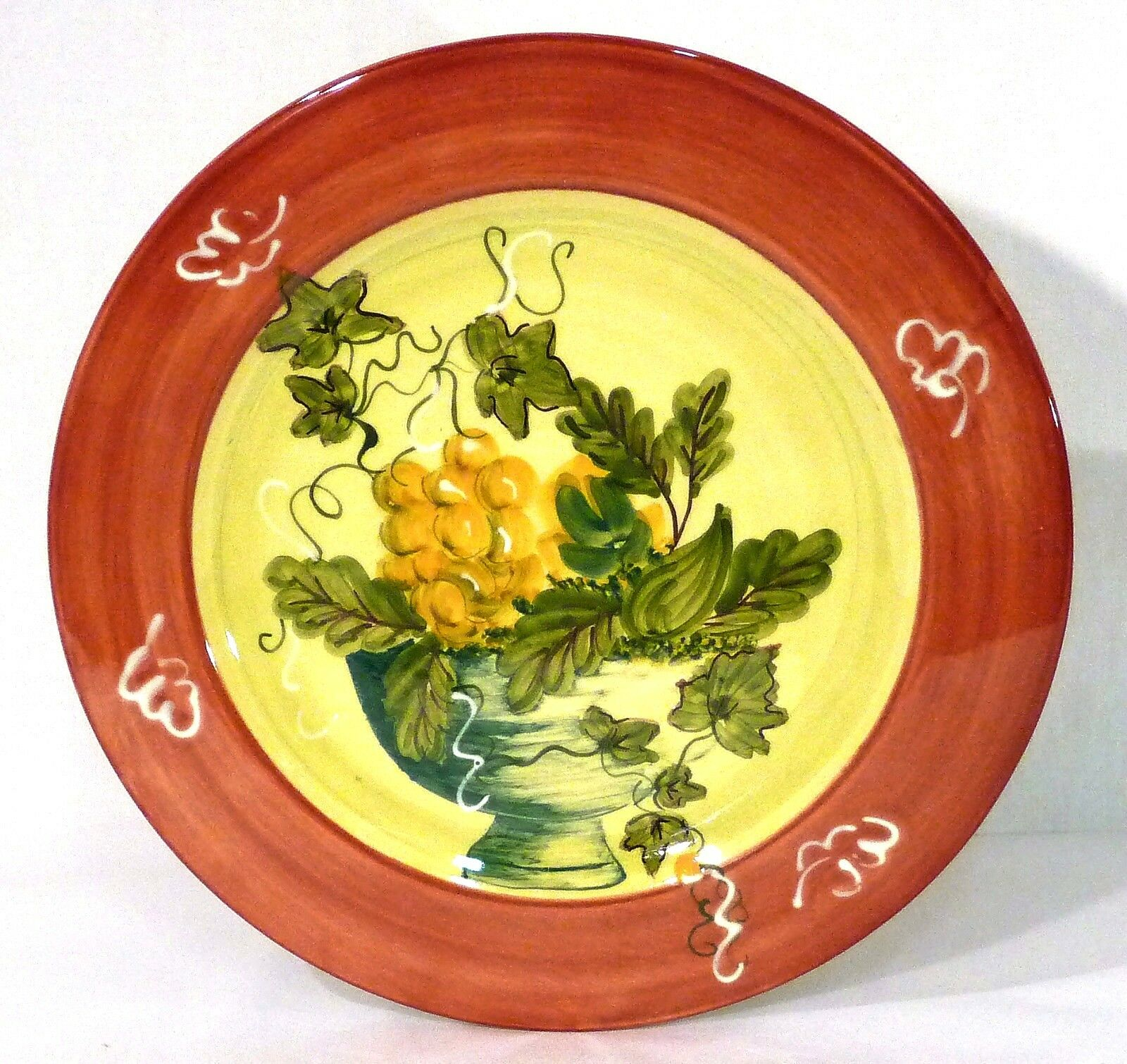 Romancing Provence 12.5  Charger Serving Plate w Grapevine Motif Made in France