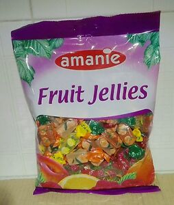 Courageux 2 X Confezione 400 G Caramelle Gommose Geele Alla Frutta Amanie Fruit Jellies