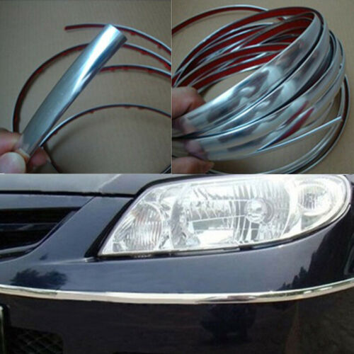 5M Chrome Silver Flexible Car Styling Interior Molding Trim Decor Strip Gap Fill