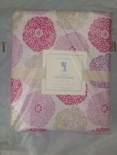 3pc Pottery Barn Kids Cotton Pink Purple Mum Flower Twin Sheet Set NWT