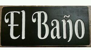 Bathroom Signs Spanish el baÑo spanish mexican bathroom sign unisex restroom plaque you