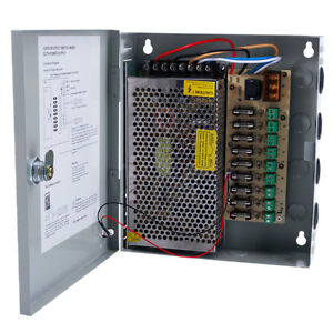 9CH 9-Channel DC 24V 5A Power Supply Distribution Box CCTV Security Camera