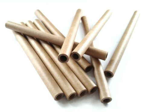 Braun parallel Röllchen paper tubes 9,0 x 13 x 180 mm Papphülsen Öko fest