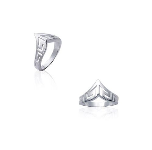 Bague FEMME Style DIADEME maille GREC ARGENT NEUF choix