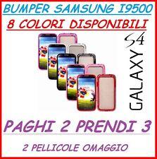 2 X Pellicola + 1 custodia BUMPER PER SAMSUNG GALAXY S4 I9500 I 9500 CASE COVER