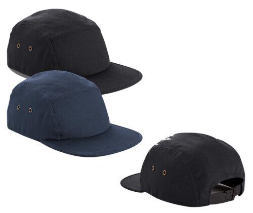 BLACK or NAVY BLUE Plain Cotton Canvas 5 Panel Cap Baseball Hat