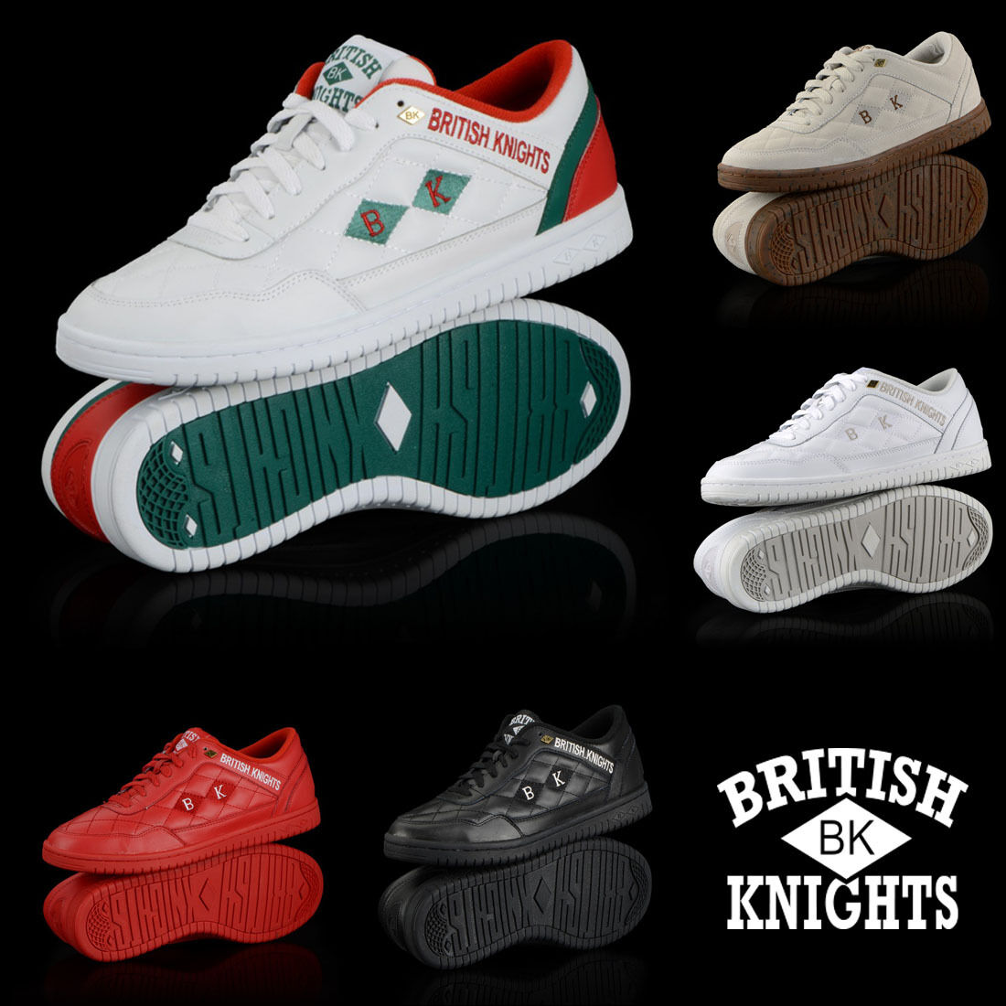 new authentic british knights quilts 5 colors low top shoes ebay. Black Bedroom Furniture Sets. Home Design Ideas