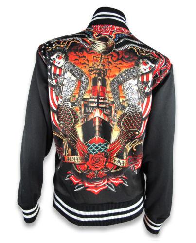 personalizzato Jacke Brand Damen stile rockabilly Liquor tattoo Hailmary up pin zfTTw