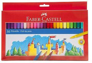 Kinder-Skills-Faber-Castell-Filzstifte-Verschiedene-Farben-50-Stueck-Fasermaler