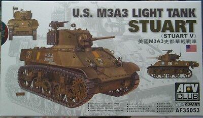 AFV CLUB 1/35 U.S. M3A3 Light Tank Stuart V