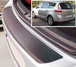 Renault-Megane-Grand-Scenic-Mk3-estilo-Carbono-Parachoques-trasero-PROTECTOR