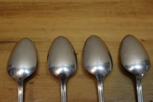Adoration Pattern Silverplate Flatware Teaspoons 4 1847 Rogers Bros