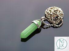Green Aventurine Crystal Point Pendant Natural Gemstone Necklace Healing Stone