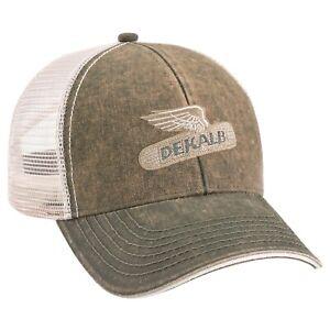 DEKALB SEED *WASHED OLIVE MESH BACK* Trademark Logo CAP HAT *BRAND NEW* DS13