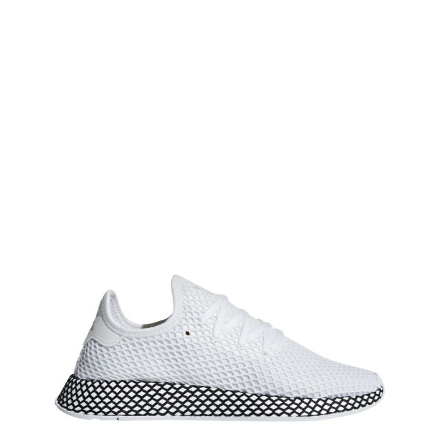 sports shoes 98a74 ad6d3 adidas Mens DEERUPT RUNNER White White Black - B41767