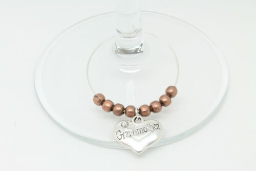 Personalised Bronze Family Wine Glass Charms Wedding Christmas Table Decorations