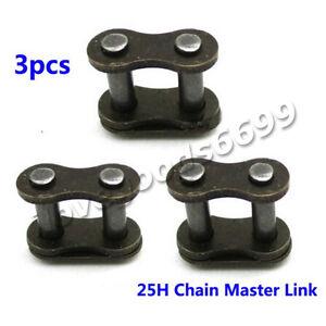 3x 25H Chain Master Link Mini Moto ATV Pocket Dirt Bike E Scooter 33 43 47 49cc