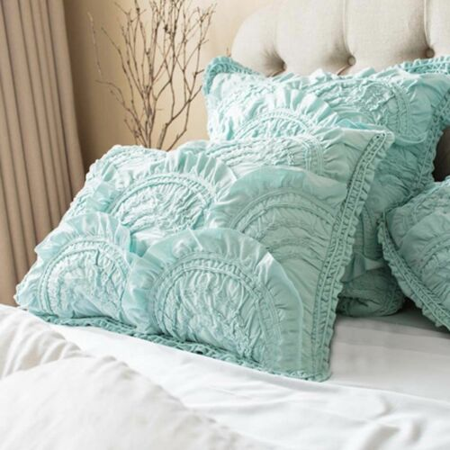 NWT ANTHROPOLOGIE RIVULETS AQUA MINT SET PAIR OF 2 KING SHAMS *BRAND NEW*