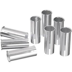 NEU silber Reduzierhülse für Sattelstütze 31,6 mm 27,2 mm