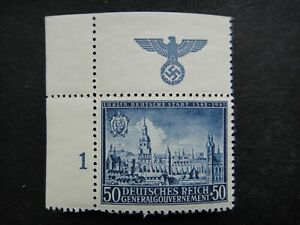 Germany Nazi 1942 Stamp MNH Ancient Lublin Swastika Eagle Generalgouvernement WW