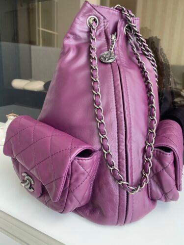 Chanel purple backpack
