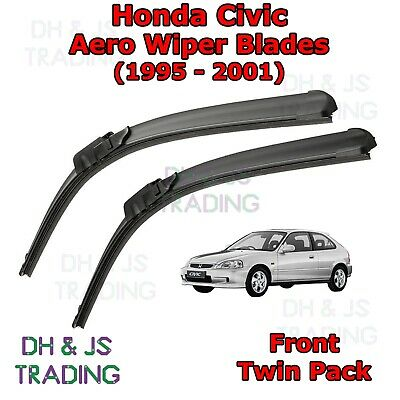 AERO FLAT WINDSCREEN WIPER BLADES HONDA CIVIC 95-01