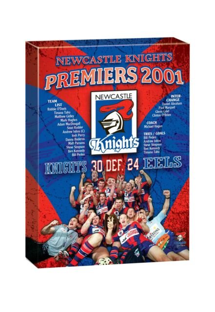 NRL TEAM Newcastle Knights Past Premiers Player Image Canvas Christmas Gift