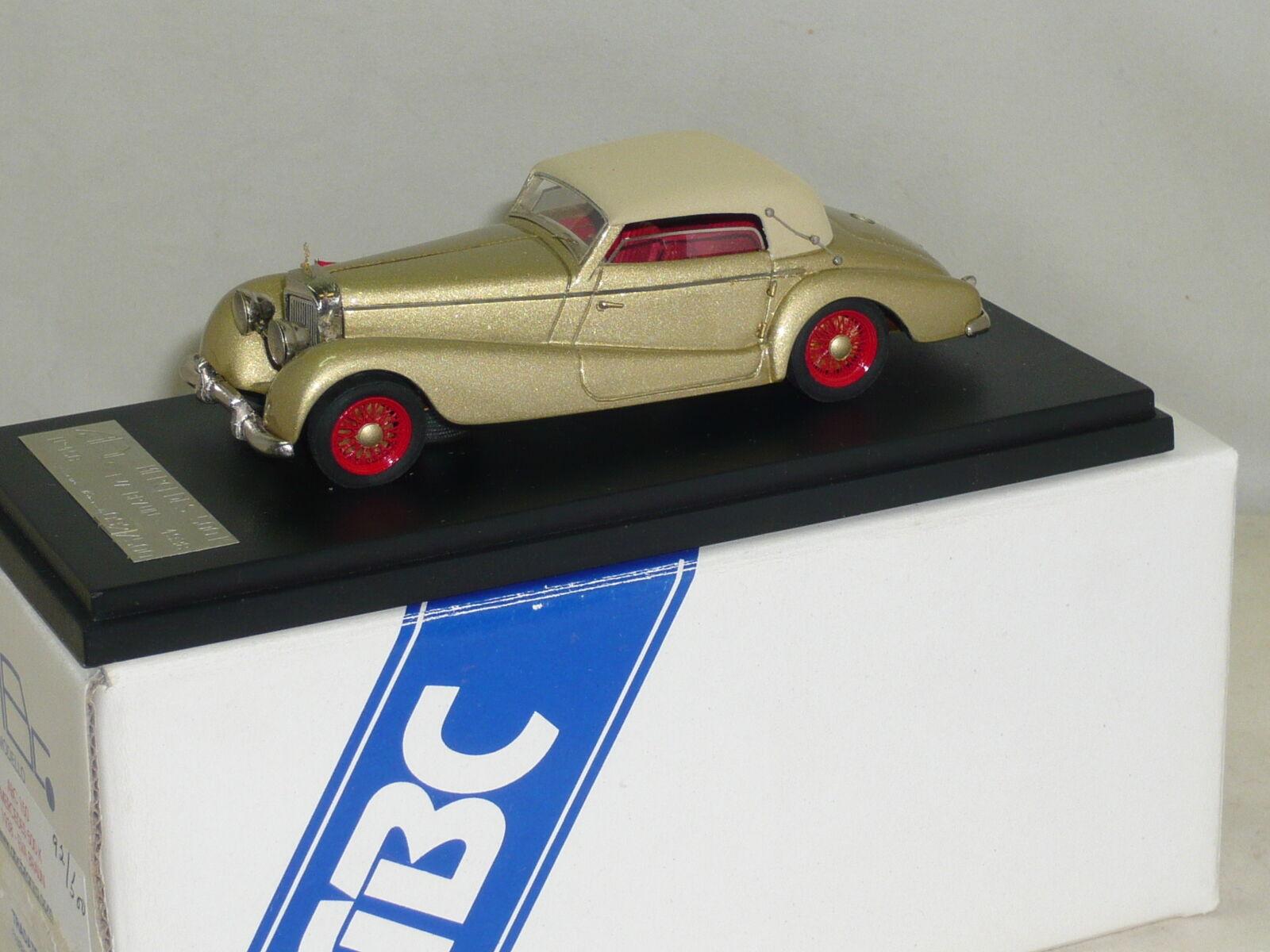 MERCEDES BENZ 500K Eva Marronee 1938 ABC BRIANZA 1 43