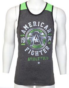 AMERICAN-FIGHTER-Mens-TANK-TOP-T-Shirt-DAVIDSON-Athletic-BLACK-Biker-Gym-36