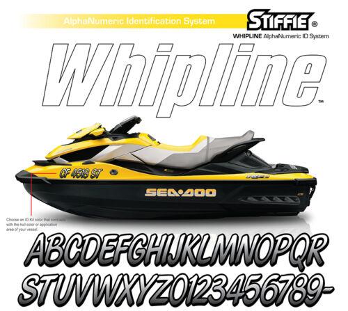 STIFFIE Whipline WL82 Boat PWC Numbers Decal Registration Sea-Doo BLACK ORANGE