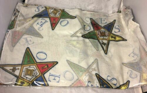 Order of the Eastern Star OES Extra Large Scarf-New!
