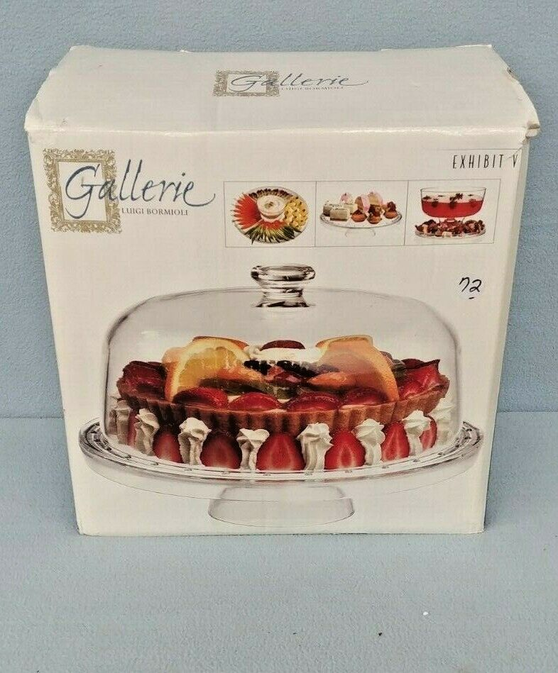 Gallerie Luigi Bormioli - Exhibit V Footed Cake Plate with Dome Cover