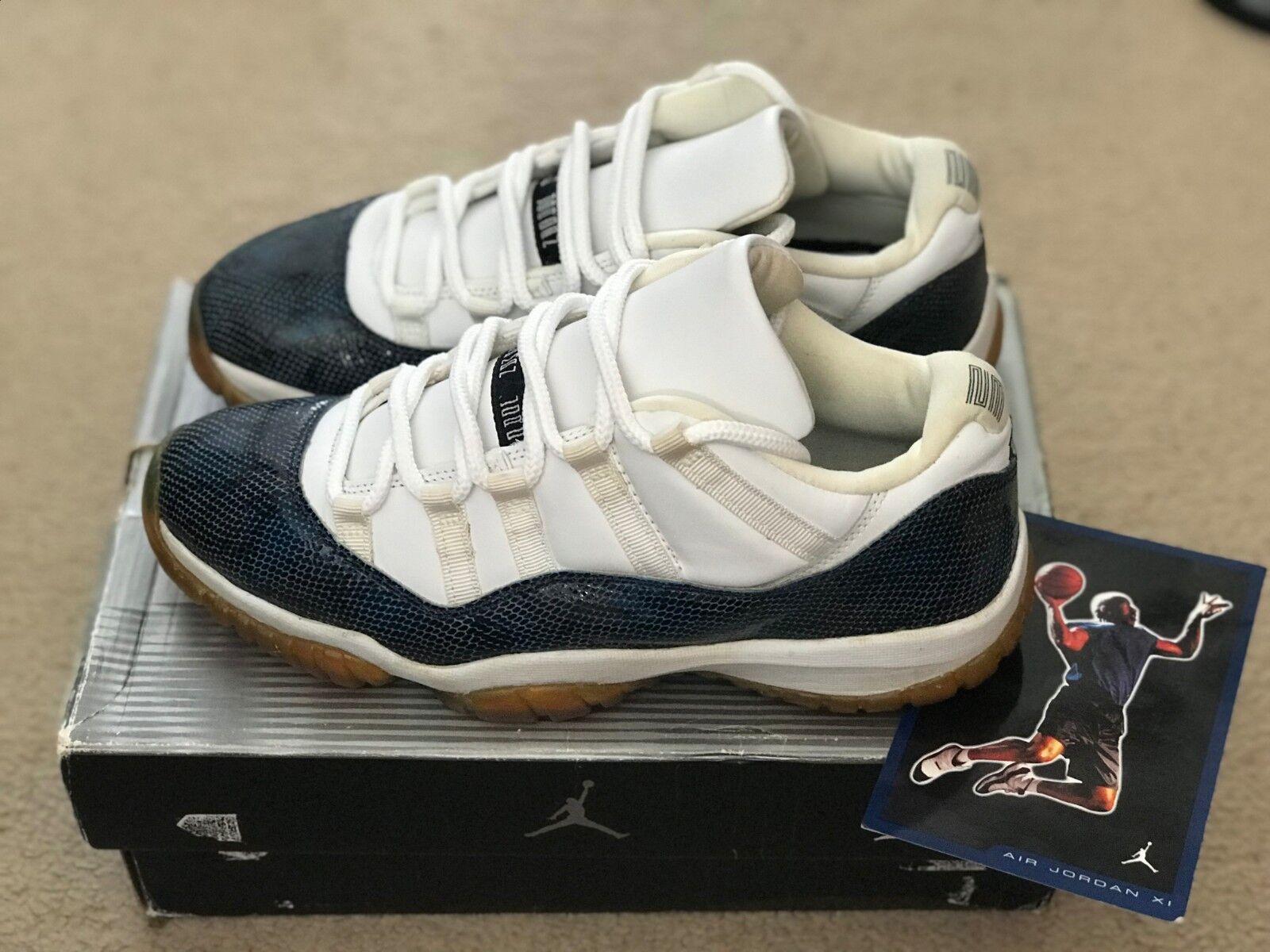 Air Jordan 11 Retro Low Snake 'Snakeskin' 2001 2001 2001 bianca nero navy 136071-102 OG 64bf92