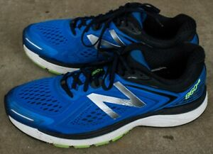 New-Balance-Male-Men-039-s-860V8-Mens-Running-Shoes-Blue-With-Green-amp-Black-Sz-12-5