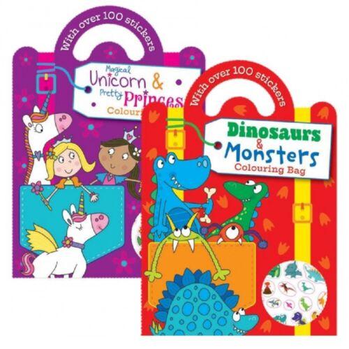 CHILDREN ART Craft Colouring Book Learning Educational Unicorn Princess Dinosaur