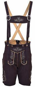 Oktoberfest Bavarian Lederhosen Synthetic Leather With Matching Suspenders Short