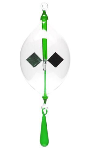 Tropfen Lichtmühlen von GlasXpert Lichtmühle Radiometer hängend 80mm klar//grün