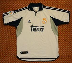 buy online 7043a 49ac4 Details about 2000 - 2001 Real Madrid, Home Football Shirt by Adidas, Mens  Medium, La Liga