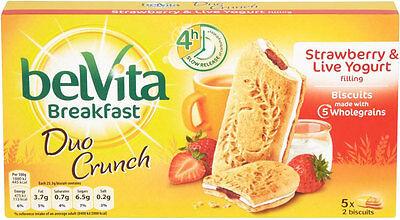 Belvita Breakfast Biscuits - Strawberry and Yogurt (5x50g) x3 Boxes  (Free Post)