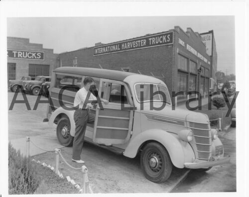 Factory Photo Ref. #48337 Wood 1938 International Harvester D2 Station Wagon