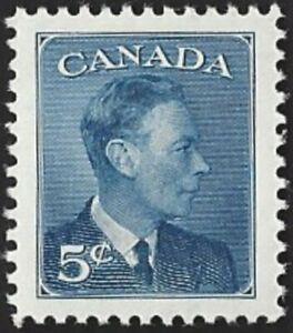 Canada  # 293  King George VI  Omitted Postes - Postage   New 1950 Issue