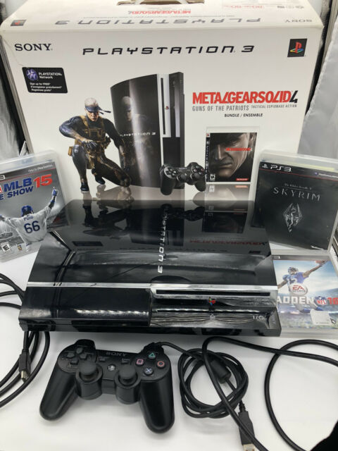 Sony Playstation 3 Metal Gear Solid 4 Guns Of The Patriots 80gb Piano Black Console For Sale Online Ebay