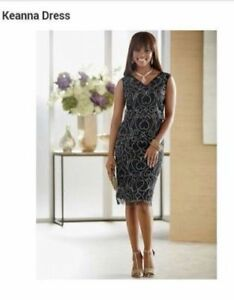 22d3d27760 Image is loading size-10-Keanna-Studded-Dress-little-black-dress-