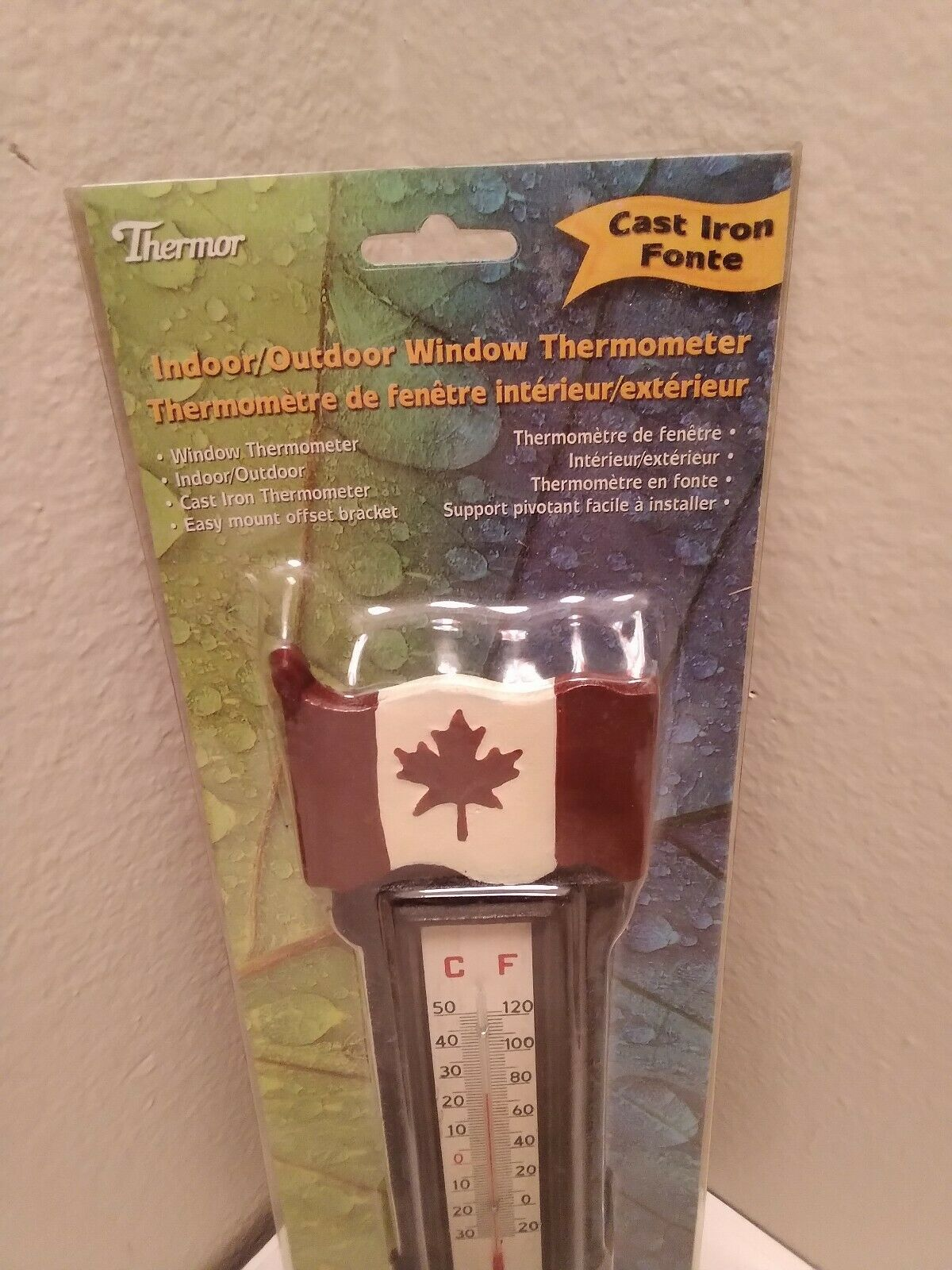 Indoor/Outdoor Window Thermometer - Cast Iron by Thermor