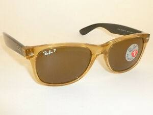 ray ban 2132  New RAY BAN Sunglasses Honey WAYFARER RB 2132 945/57 Glass ...