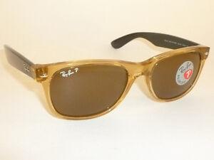 c918597470 New RAY BAN Sunglasses Honey WAYFARER RB 2132 945 57 Glass Polarzed ...